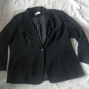Calvin Klein size 22 black suit jacket